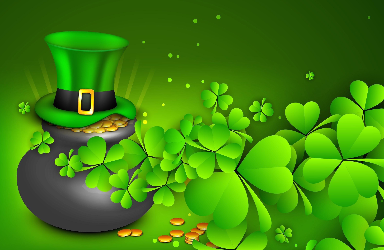 Irish Leprechaun hat and clover