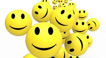 Smileys Show Happy Cheerful And Positive Faces.