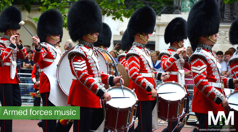 Military marching bands, trumpeters and swing bands for hire
