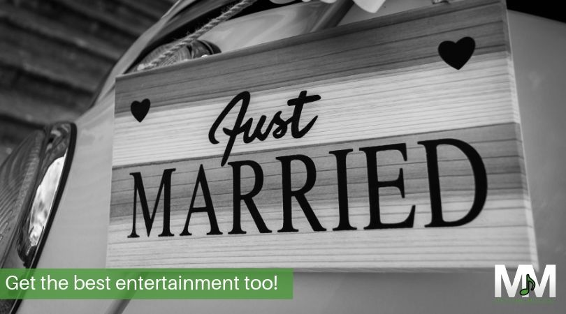 Just married sing wedding entertainment