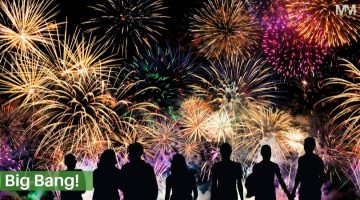 Fireworks to music for guy Fawkes