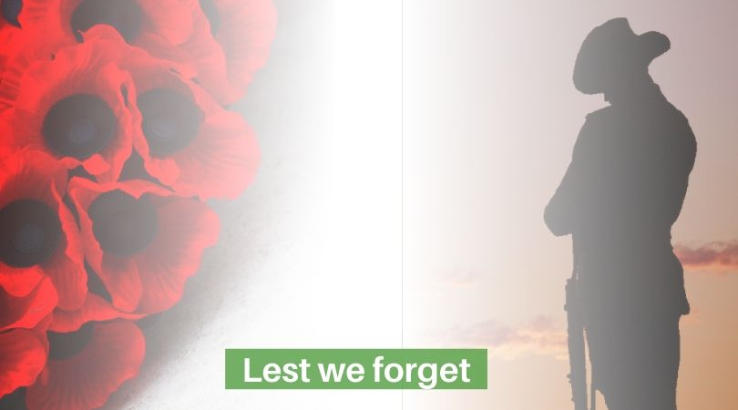 poppy and soldier silhouette armistice