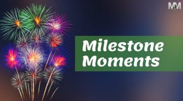 fireworks with milestone moments words
